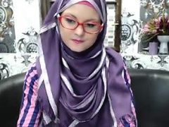 Super-skinny teenager in hijab