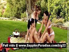 Superb brunette lesbians...