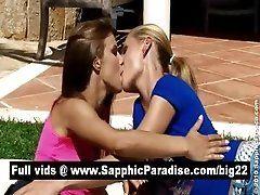 Lovely blonde and brunette...