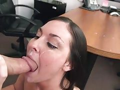 Brittany Shae facialized by huge...