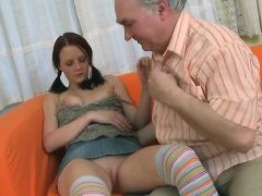 Marvelous young lady gets licked...