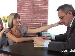 Fervid schoolgirl gets seduced...