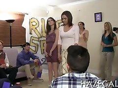 Group lesbo sex act