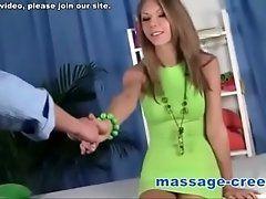 Teen massage ends in cum taste