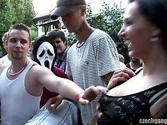 xhamster Czech gangbang part 1