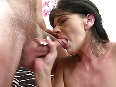 Granny gets rough sex with young...