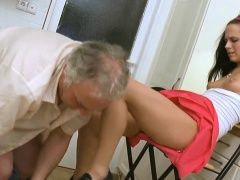 Young honey spreads legs in...
