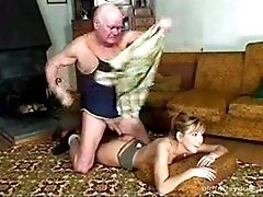Grandpa Fucks His Teen for Cash...