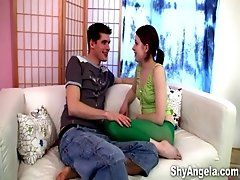 Shy Angela - Tied with nylons...
