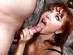 Super red head cougar and guy...