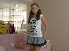 xhamster Brunette with pigtails gets her...