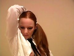 Ponytailed redhead teen Halo...