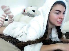 Cute girl wearing a Panda Outfit...