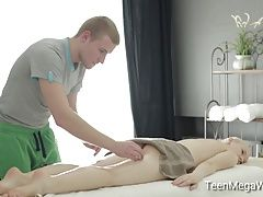 Nasty masseur wants to fuck his...
