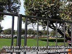 Fucking teen in public park