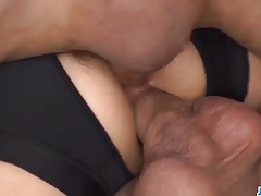 Sensational gangbang with young...