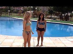 Best friends challenge in pool #...