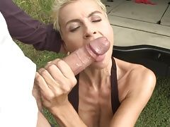 Kinky mother takes huge cock in...