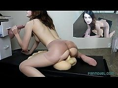 xhamster Webcam Girl Ride One Dildo and...