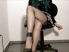 Legs tease and stocking play