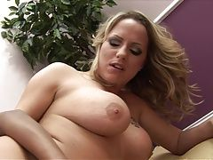 Sexy lesbians sink toys into...