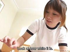 Subtitled Japanese schoolgirl...