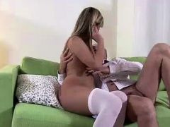 Young European blonde fucked by...