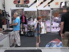 Skinny redhead sells her kayak...
