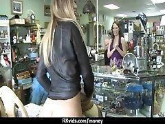 Desperate teen naked in public...