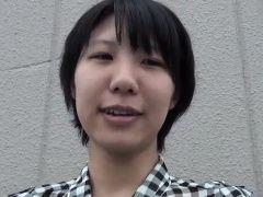 Japanese teen rubs snatch